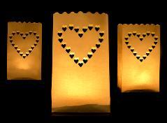 Stor lanterne med hjerter (10 stk.)