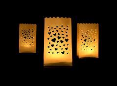 Lille lanterne med hjerter (10 stk.)