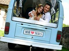 Mr&Mrs. nummerplade (1 stk.)