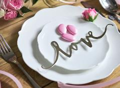 LOVE sign silver (6 pcs.)