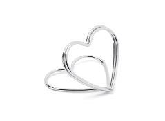 Hjerte kortholder i sølv (10 stk.)
