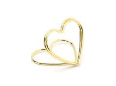 Hjerte kortholdere i guld (10 stk.)