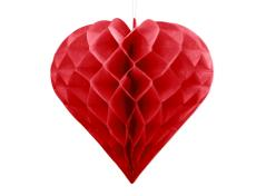 Honeycomb hjerte lille rød (1 stk.)