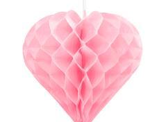 Honeycomb hjerte lille l.rød (1 stk.)