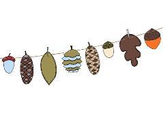 Guirlande med kogler (1 stk.)