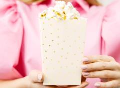 Prikkede popcorn bægre (6 stk.)
