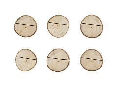 Holdere til bordkort i træ (6 stk.)