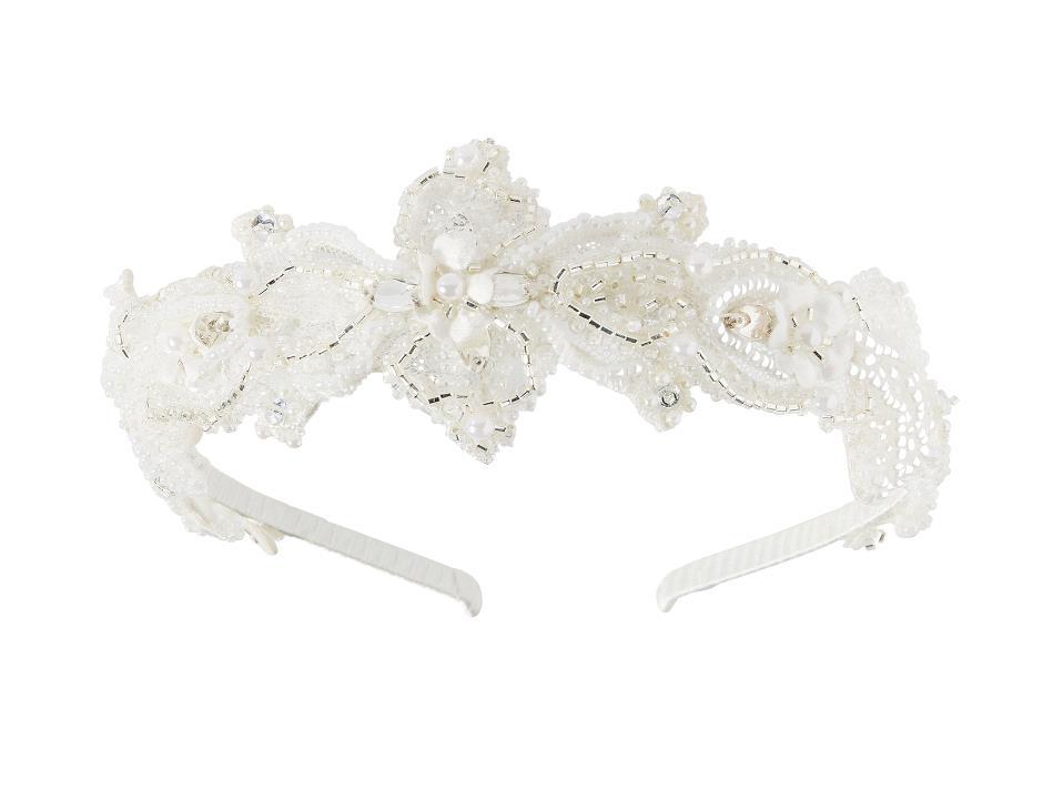 Pearl embroidered tiara