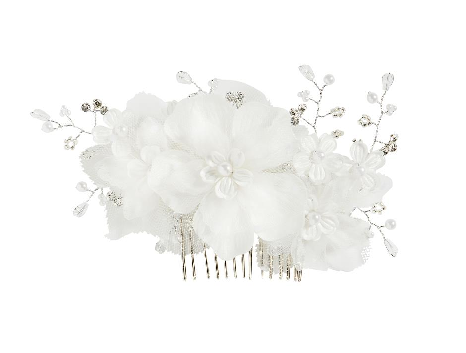 Cute comb with tulle and flower details