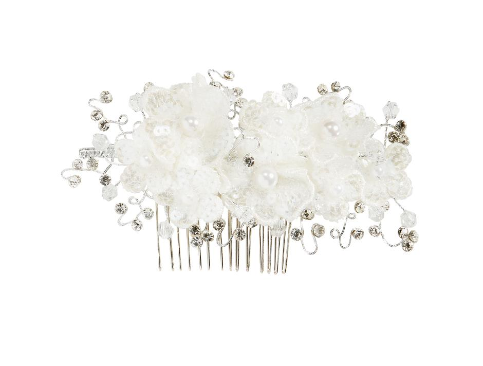 Sequins flowers on comb