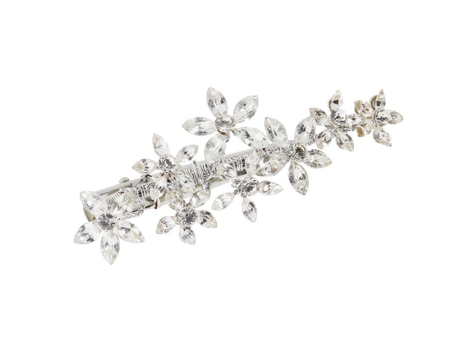 Clips with sparkling flowers
