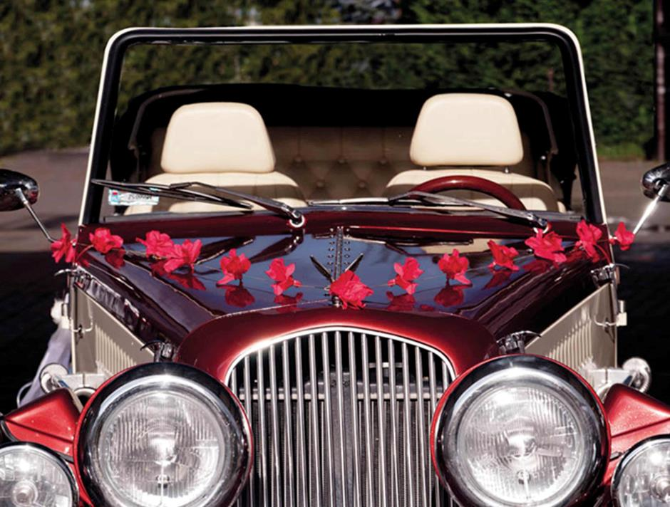 Red Roses Car Decoration