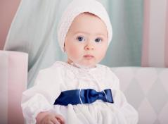 Christening gown & bonnet (white)
