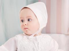 Christening gown & bonnet (cream)