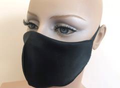 Alltagsmaske 2-lagig  (Black)