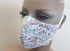 3-Layered Facemask (Petite flower)